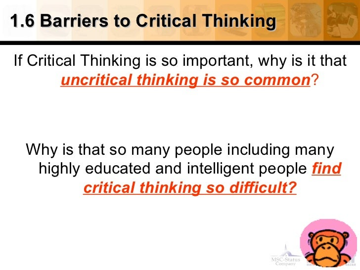 critical thinking and analytical skills assessment Critical and analytical thinking - university college london.
