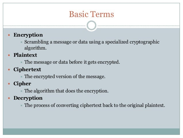introduction to cryptography essay Introduction to basic cryptography: hashing in this essay, you will provide a real-world example of how cryptography/hashing can be used in order to secure data transmission across a network.
