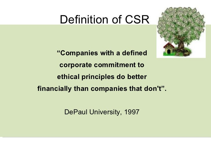 introduction to csr Provides students with a comprehensive introduction to corporate social responsibility presents corporate social responsibility from a management.