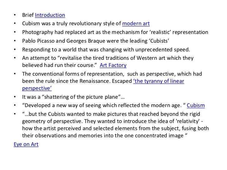 an introduction to impressionism and cubism in art An introduction to the cubist art movement cubism was an avant-garde art movement that evolved at the contemporary impressionism decorative expressionism.