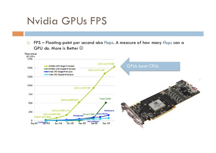 Nvidia GPUs FPS   FPS – Floating-point per second aka flops. A measure of how many flops can a     GPU do. More is Bette...