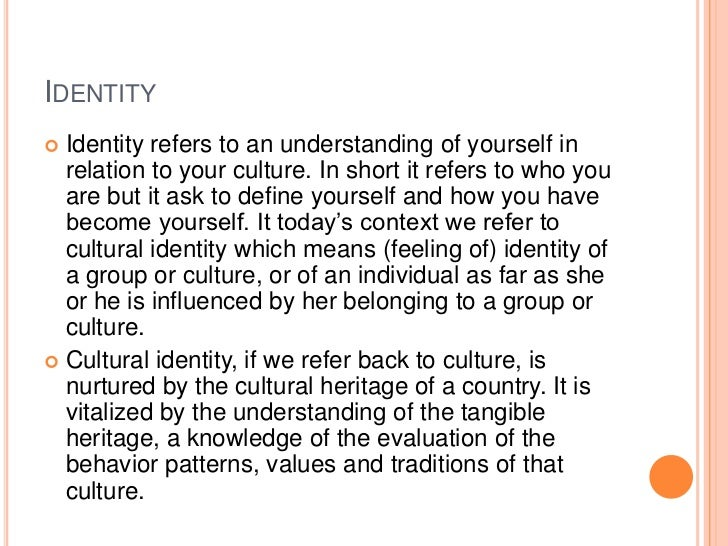 understanding culture essay In the essay about culture, several aspects such as ethnicity, behaviour, and values have been highlighted to gain an in-depth understanding about the base and context of different culture within a community.