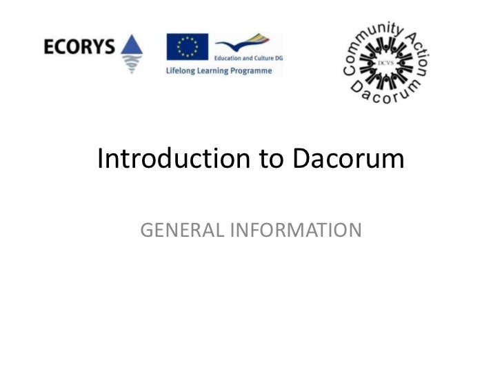 Introduction to Dacorum   GENERAL INFORMATION