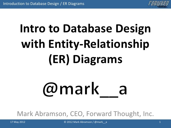 Introduction to database design with idef1x entity relationship er introduction to database design er diagrams intro to database design with entity relationship ccuart Gallery