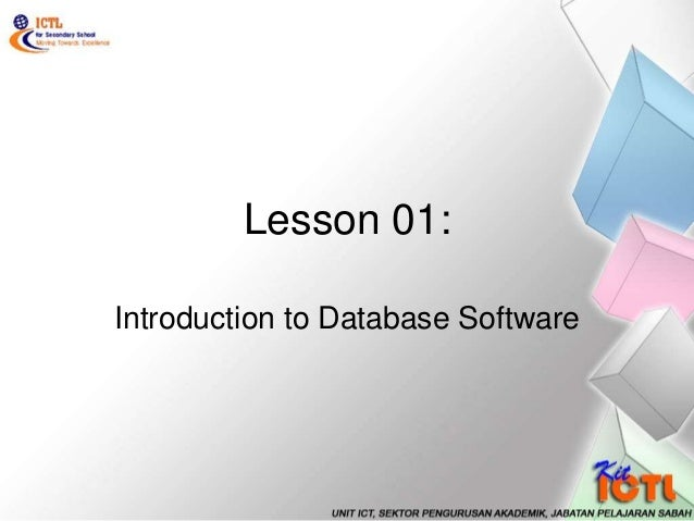 Lesson 01: Introduction to Database Software
