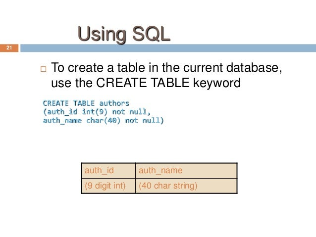 sql introduction to database Ms sql server: introduction to database concepts slideshare uses cookies to improve functionality and performance, and to provide you with relevant advertising if you continue browsing the site, you agree to the use of cookies on this website.