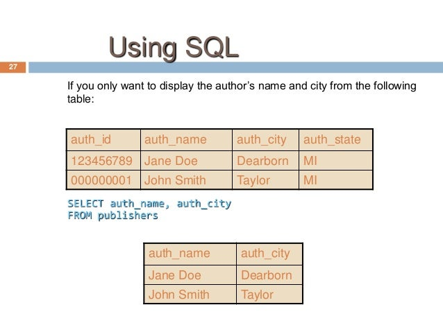 sql introduction to database Video created by ibm for the course databases and sql for data science in  week 1 you will be introduced to databases you will create a.