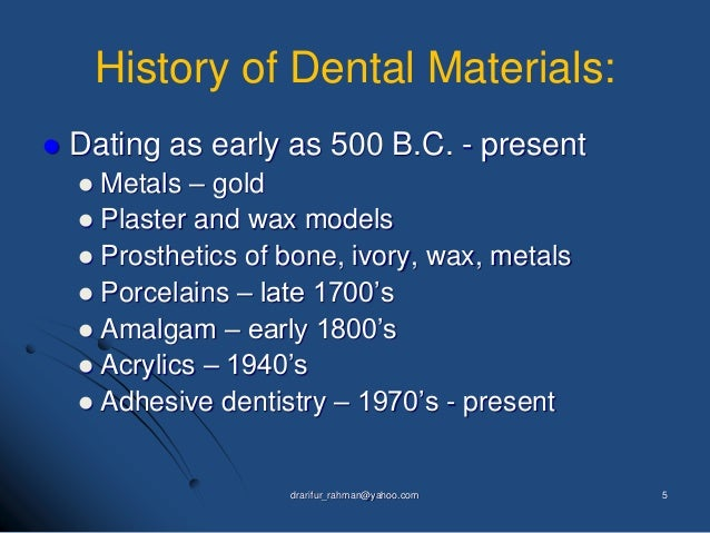 Introduction to dental materials Lecture 1-2