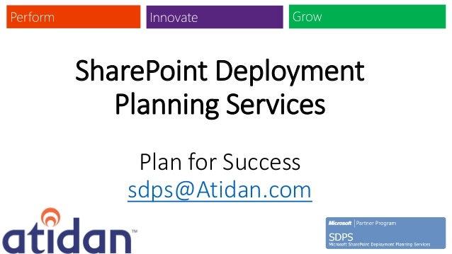 SharePoint Deployment   Planning Services    Plan for Success   sdps@Atidan.com