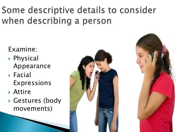 essays describing a person