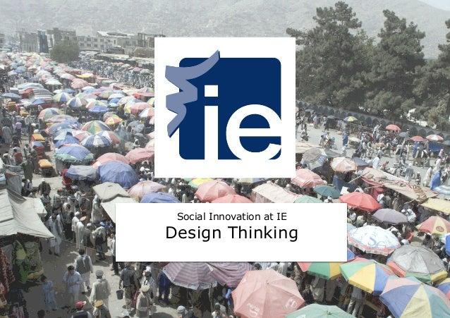 Social Innovation at IE Design Thinking