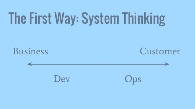 The First Way: System Thinking Dev Ops Business Customer