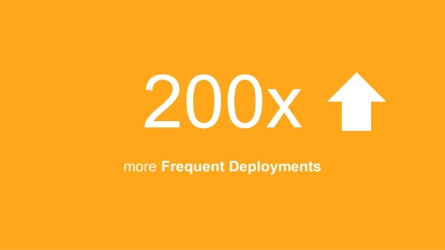 200x more Frequent Deployments