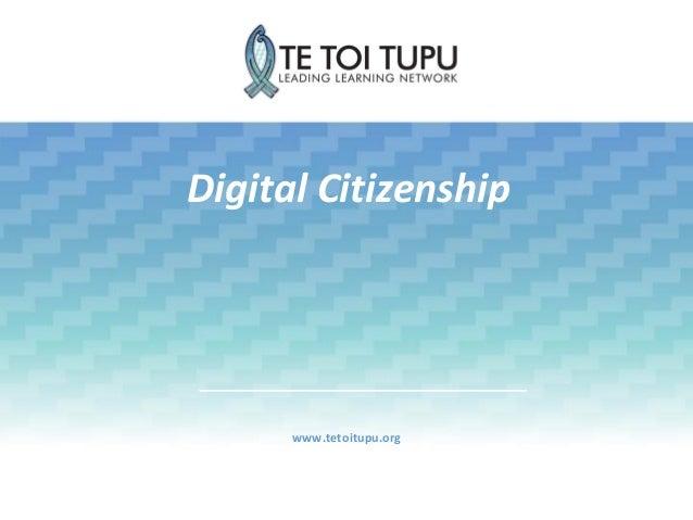 Digital Citizenship www.tetoitupu.org