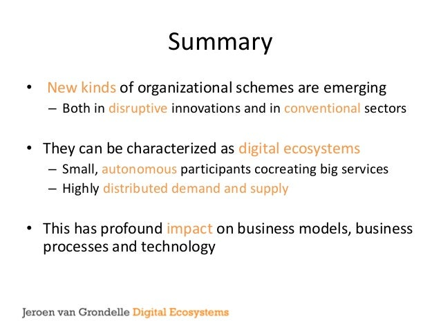 Introduction to Digital Ecosystems Slide 2