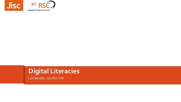 Lyn Bender, Jisc RSC SW Digital Literacies