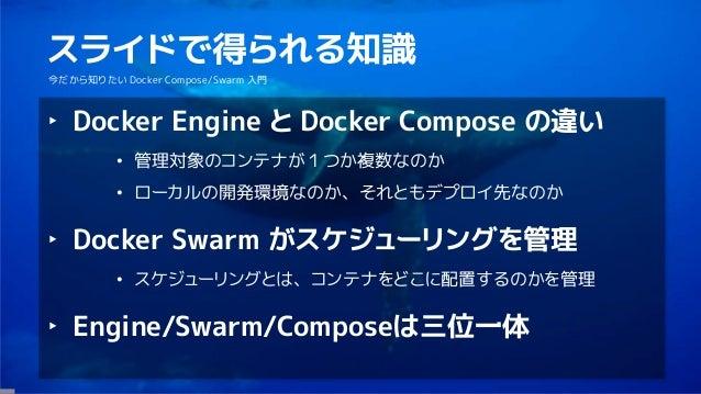 今だからこそ知りたい Docker Compose/Swarm 入門 Slide 2
