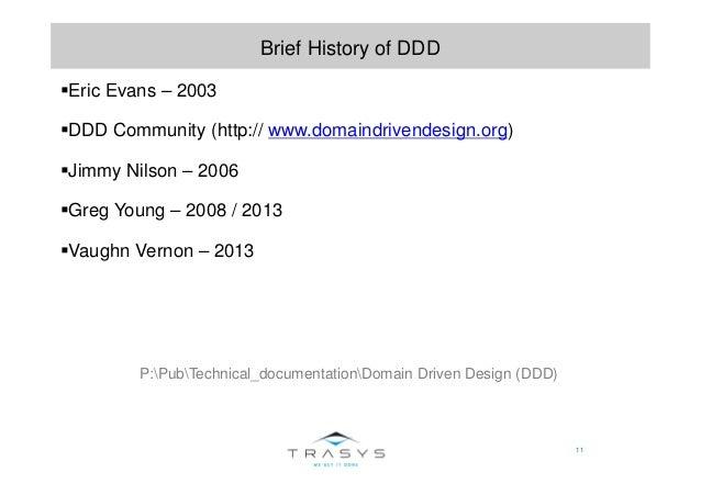 11 Brief History of DDD Eric Evans – 2003 DDD Community (http:// www.domaindrivendesign.org) Jimmy Nilson – 2006 Greg Youn...
