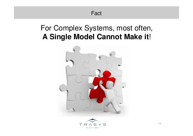 14 Fact For Complex Systems, most often, A Single Model Cannot Make it!