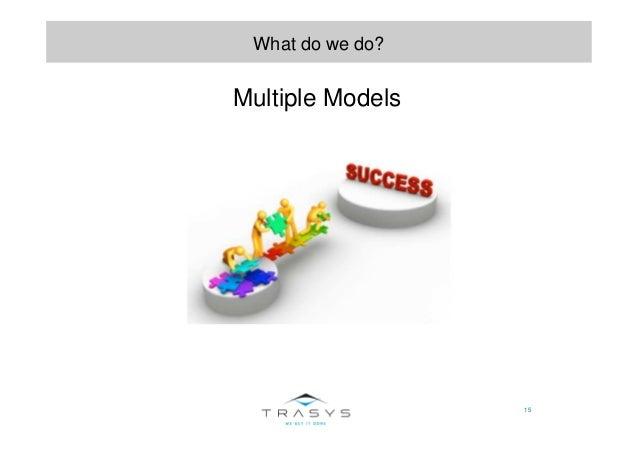 15 What do we do? Multiple Models