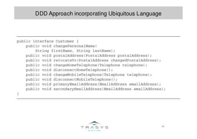 35 DDD Approach incorporating Ubiquitous Language