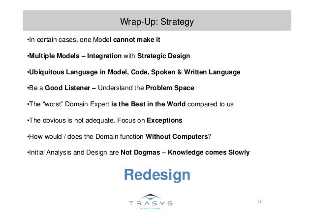 75 Wrap-Up: Strategy •In certain cases, one Model cannot make it •Multiple Models – Integration with Strategic Design •Ubi...