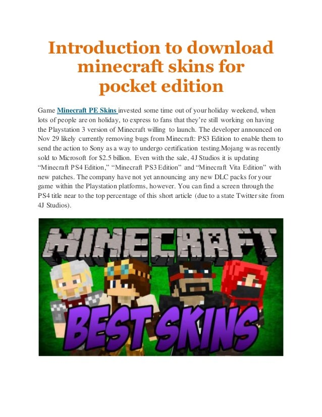 skins for minecraft pocket edition