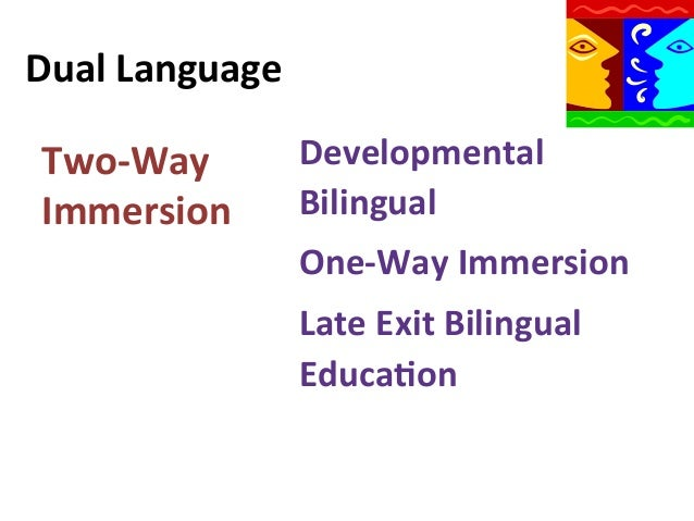 a comparison of late exit bilingual education and english immersion Esl and bilingual education study guide by bekruse includes 15 questions covering vocabulary, terms and more  structured english immersion  late exit two-way .