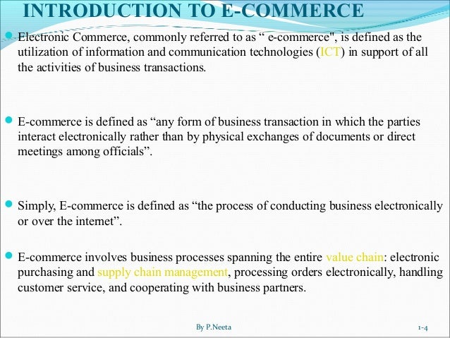 Introduction and Types of E-commerce