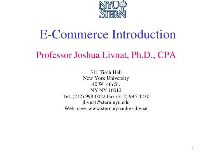 introduction to ecommerce E-commerce is the activity of buying or selling of products on online services or over the internet electronic commerce draws on technologies such as mobile commerce.