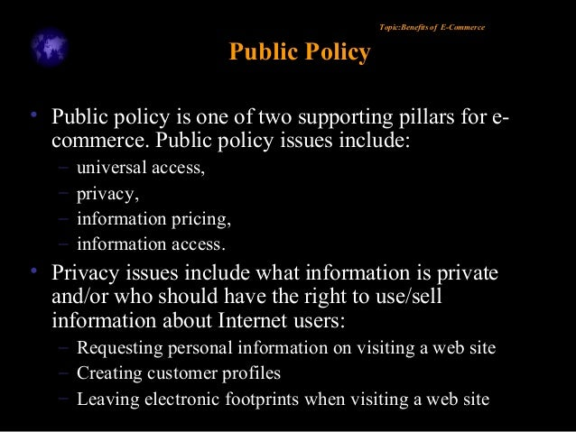 an introduction to electronic commerce and internet privacy Electronic commerce and internet privacy by peter p swire this article  puts forward two claims and one proposed new term the.
