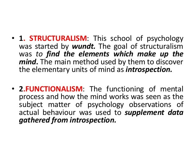 functionalism psychology Structuralism in psychology  particularly from the school of psychology, functionalism which later evolved into the psychology of pragmatism.