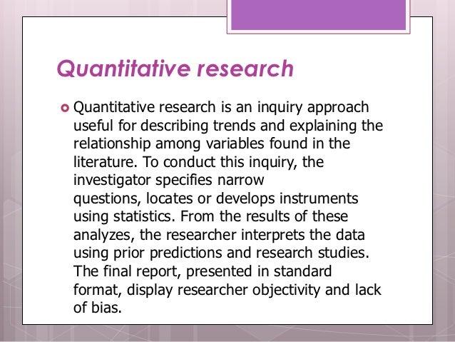 quantitative research approaches