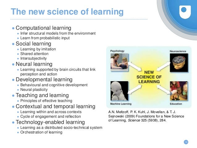 The new science of learning ● Computational learning ● Infer structural models from the environment ● Learn from probabili...