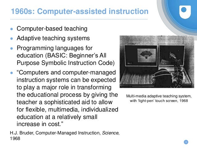 rationale computer aided instruction for basic A rationale and description of the basic computer programming is being developed as a vehicle for research in tutorial modes of computer-assisted instruction.