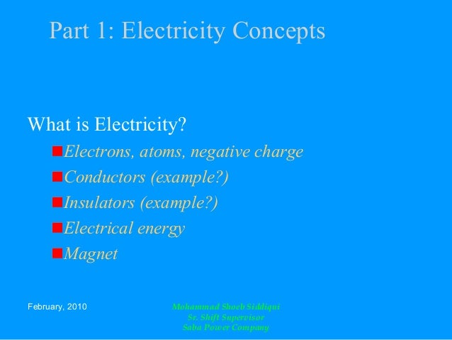 Introduction Of Electricity