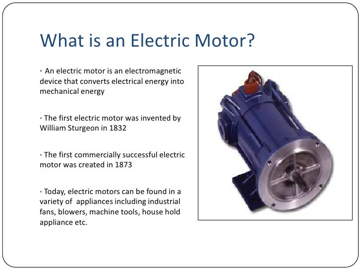 Introduction to electric motors for What is dc motor
