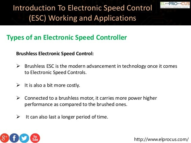 Electronic Speed Control (ESC) Circuits, Working And