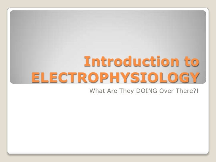 Introduction to ELECTROPHYSIOLOGY<br />What Are They DOING Over There?!<br />