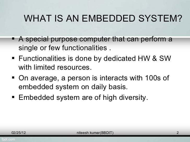 Introduction To Embedded System