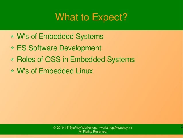 Introduction to Embedded Systems Slide 2