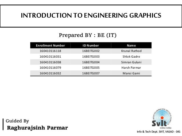 intro to engineering graphics A brief introduction to engineering graphics will durfee & tim kowalewski  department of mechanical engineering university of minnesota.