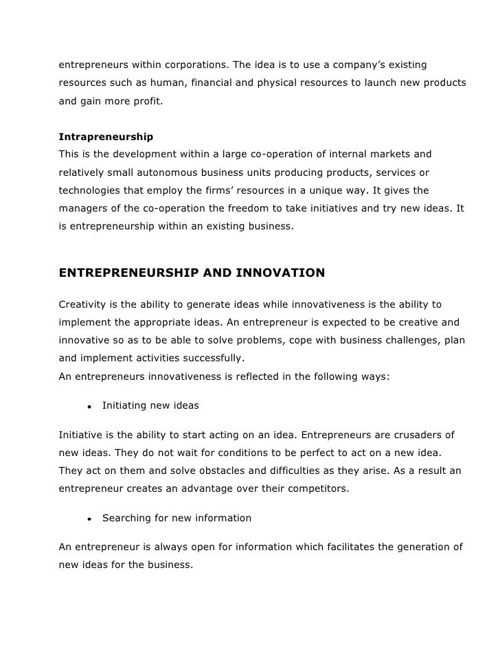 entrepreneurship essay Ashley smith entrepreneurship what does entrepreneurship mean entrepreneurship means a person who organizes, operates, and assumes the risk for a business.
