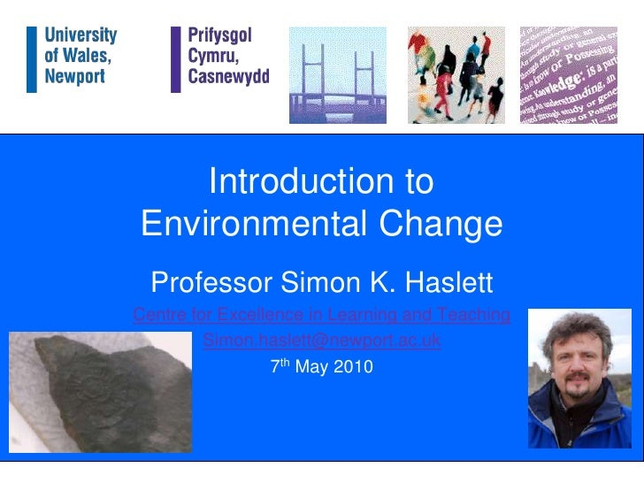 An introduction to environmental change