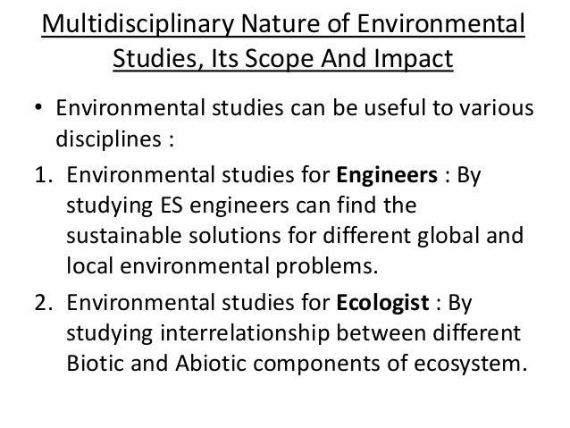 multidisciplinary nature of environmental studies pdf