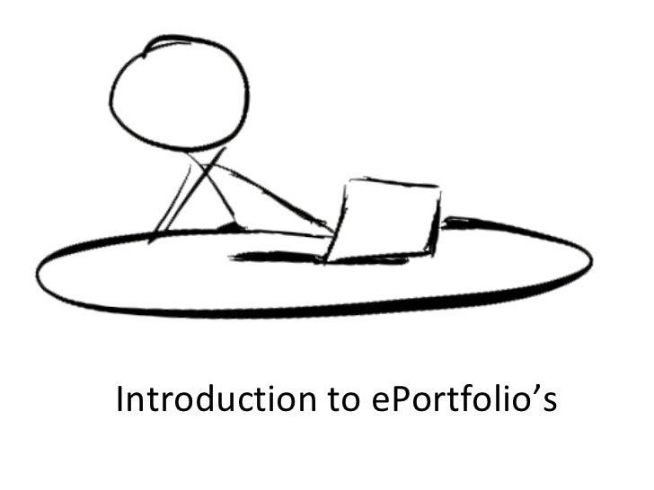Introduction to ePortfolio's