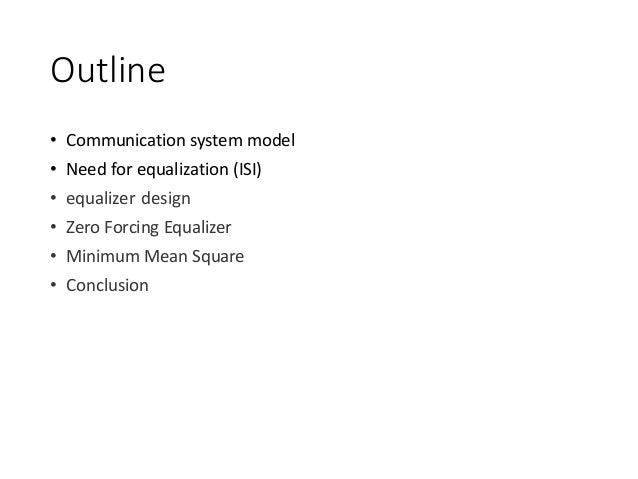 Introduction to equalization Slide 2