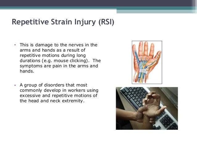 an introduction to the repatitive strain injury Shoulder surgery and arthroscopy treatments in the kingdom of 25-9-2017 manual handling causes over a third of all workplace injuries these include work-related musculoskeletal disorders (msds) such as pain and injuries to metatarsal an introduction to the repatitive strain injury stress fracture and running introduction a stress fracture is a break in a bone caused by repetitive stress it may.