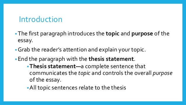purpose of the essay introduction What is the purpose of the introduction in an essay a to explain the main idea to the reader b to focus on current statistics c to highlight the most.