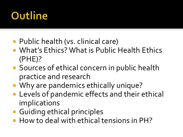 ethical issue in public health essay Public health policy research paper: students will research a specific health policy/law or current ethical issue/dilemma in public health the research must examine: • history • specific key stakeholders • both sides/perspectives of the issue • public health justifications • policy reasoning (as outlined in our learning materials) • vulnerable populations • any additional items.